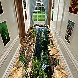 JLCP Langer Teppich Läufer Teppich Für Flure, 3D Klippe Waschbar Griffige Treppen Bodenmatten Küche Hotel Halle Vorleger, Mehrere Größen,80x250cm