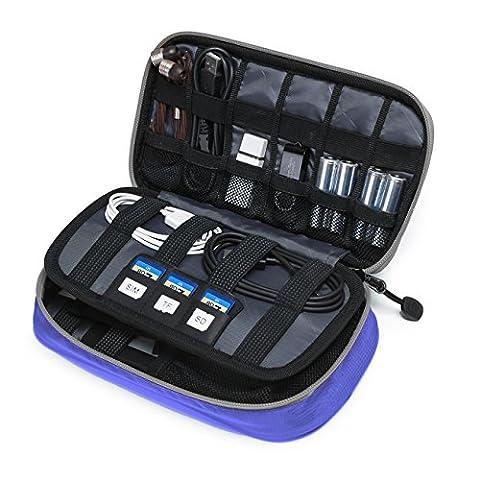 BAGSMART Kompakte Eletronik Kabeltasche Doppelte Fächer für USB Sticks, Kabel,