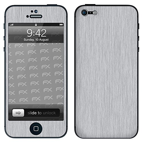 "Skin Apple iPhone 5 ""FX-Camouflage-Black"" Sticker Autocollant FX-Brushed-Alu"