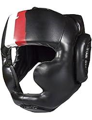 """Fuji Mae - Casque de boxe noir intégral avec pommettes """"Basic"""""""