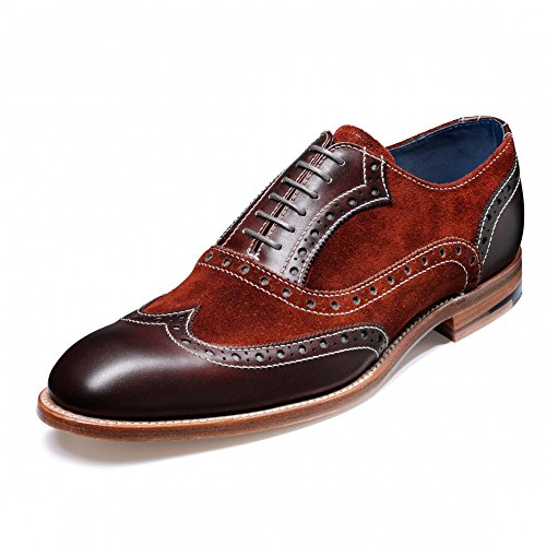 Barker Footwear Grant Suede Leather Wingtip Brogues BROWN 10