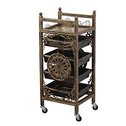 Universal Mobile Cart (JU FU Wagenlagerregal Trolley - Multi-Layer-Friseur-Tool Cart Barber Shop Beauty Shop Multifunktions-Mobile-Kinderwagen-Mobil-Rack @@ (Color : A))