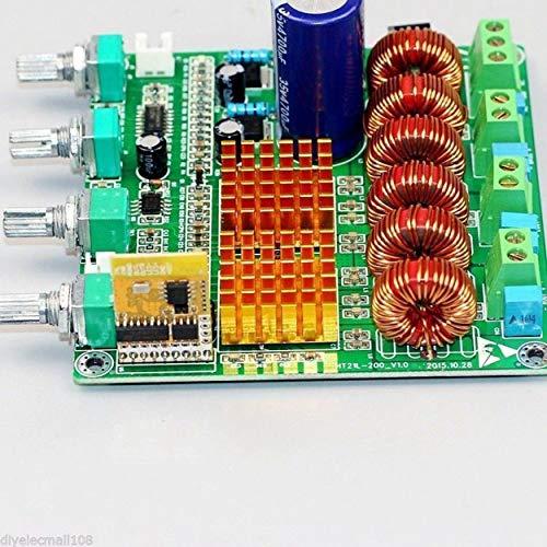 Preisvergleich Produktbild Lorenlli Bluetooth 4.0 Digital 2.1 Klasse D HiFi-Leistungsverstärker-Board 3ch Super Bass Ampl