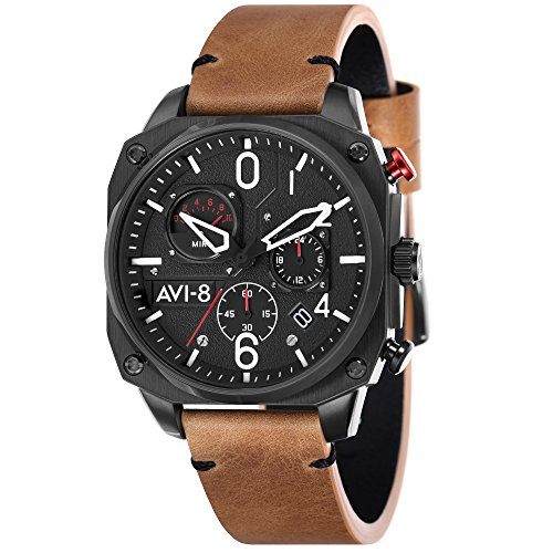 Hawker Hunter AV-4052-02 Men's Watch – AVI-8 – Leather – 45 mm