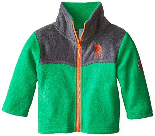 US Polo A.s.s.n Baby Fleece Jacke mit eingesticktem Polo Reiter Logo (Grün) (Polo Baby Us)