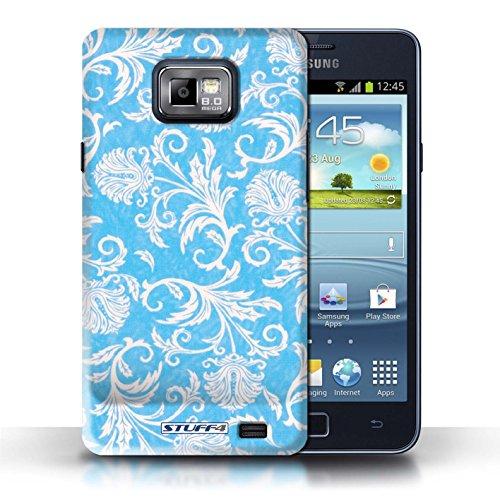 iCHOOSE Print Motif Coque de protection Case / Plastique manchon de telephone Coque pour iPhone 6+/Plus 5.5 / Collection Fleurs / Fond Rouge Fond Bleu
