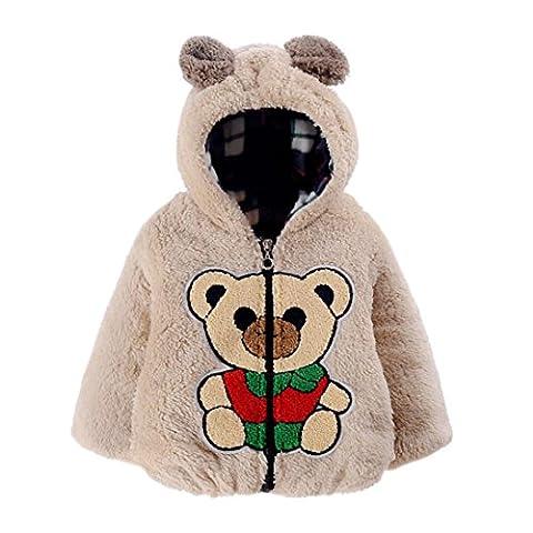 Automne Hiver Vêtements pour bébé, Moonuy Automne hiver bébé ours mignon manteau chaud Manteau veste Casual vêtements Snow Outdoor (12mois,