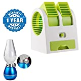 #3: Captcha Portable Mini Air Cooler Adjustable Angles Fan With USB And Battery Use With Rechargeable LED Retro Blow Sensor Lamp Emergency Light Compatible with Xiaomi, Lenovo, Apple, Samsung, Sony, Oppo, Gionee, Vivo Smartphones (One Year Warranty)