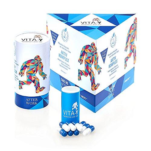 VITA-Y - TAKE ME AFTER WORK - Vitamine | Mineralstoffe | Aus unberührter Natur (vegan) (B-komplex-vitamine Lebensmittel-wissenschaft)