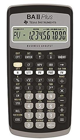 Texas Instruments BA-II-Plus Calculatrice financière 10 chiffres Mémoire 10 Mo