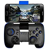 BONUSIS Wireless Gamepad Controller mit Klammer für Android / iPhone - Schwarz
