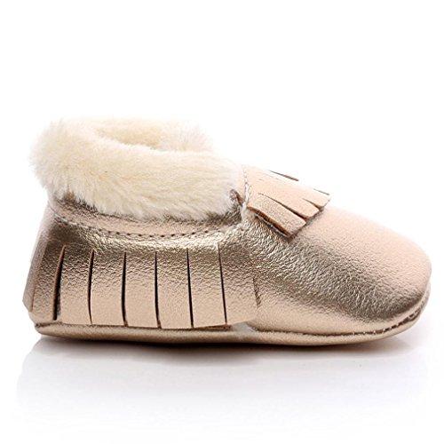 Jamicy® Baby Schneestiefel weiche Sohle weiche Krippe Schuhe Kleinkind Stiefel Gold