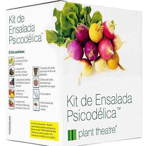 Plant Theatre Kit de Ensalada Psicodélica - 5 fantásticas verduras de ensalada para crecer - Gran regalo