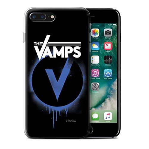 Offiziell The Vamps Hülle / Gel TPU Case für Apple iPhone 7 Plus / Aufwachen! Muster / The Vamps Graffiti Band Logo Kollektion Blau V