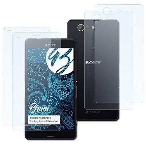 Bruni Schutzfolie für Sony Xperia Z3 Compact Folie, glasklare Displayschutzfolie (2er Set)