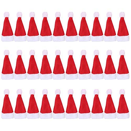 ini Red Santa Hat Xmas Dekoration für Weihnachten Lollipop Handwerk Arts Festgelegt (Lollipop Dekorationen)