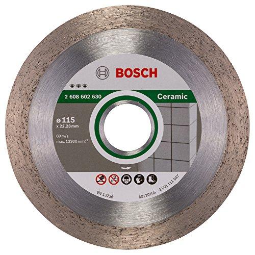 Bosch Professional Diamanttrennscheibe Best für Ceramic, 115 x 22,23 x 1,8 x 10 mm, 2608602630