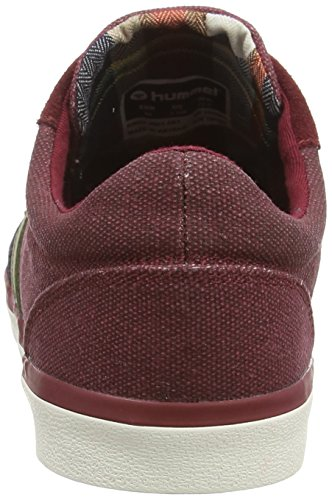 Hummel Deuce Court Waxed Canvas, Baskets basses mixte adulte Rouge (cabernet)