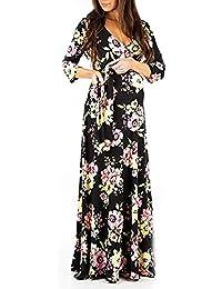 Lenfesh_Vestidos Vestido de Maternidad, Maternidad Lactancia Floral EstampadoVestido Mujeres Embarazadas Otoño Invierno Vestido de Manga Larga Mujer