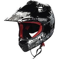 ARMOR Helmets AKC-49 Casco Moto-Cross, DOT certificado, Bolsa de transporte, L (57-58cm), Negro