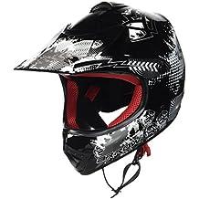 ARROW AKC-49 Black Casco Moto-Cross MX Pocket-Bike Scooter Racing Motocicleta NINOS Junior Helmet Cross-Bike Off-Road Sport Kids Quad Enduro, DOT Certificado, Incluyendo Bolsa de Casco , Negro, L (57-58cm)