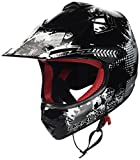 Armor · AKC-49 'Black' (black) · Casco Moto-Cross · Racing motocicleta Scooter Off-Road NINOS Quad Enduro · DOT certificado · Click-n-SecureTM Clip · Bolsa de transporte · L (57-58cm)