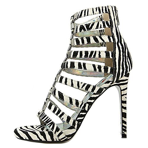Luichiny Take A Bow Femmes Simili daim Sandales Zebra