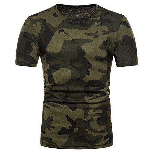TWBB Camiseta de Manga Corta con Estampado de Camuflaje para Hombre
