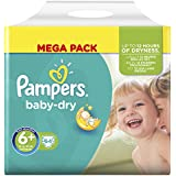 Pampers Baby Dry Nappies, Size 6+ (Total 64 Nappies)