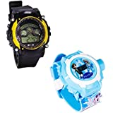 Shanti Enterprises Combo Frozen Princess 24 Images Projector Watch And Sports Watch Multi Color Dial For Kids - B07573HBNH