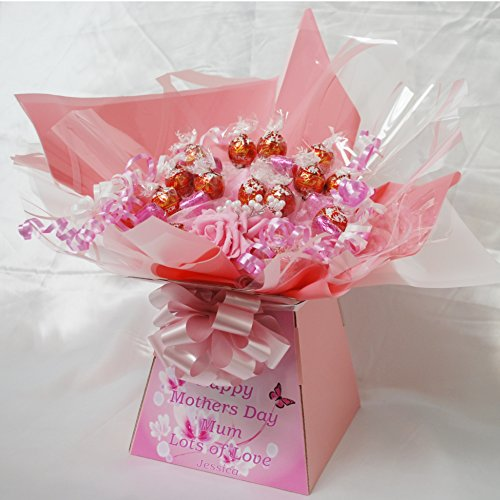 PERSONALISED MOTHERS DAY LINDOR SWEET CHOCOLATE BOUQUET HAMPER