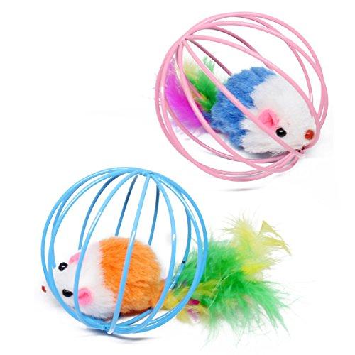 tze Lustige Spiele Spielzeug Teal Gefälschte Maus Mäuseratten in Käfig-Kugel-Spielzeug ()