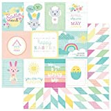 "New! Easter Blessings Double-Sided Cardstock 12""X12""-Spring Wishes - Case Pack of 25"