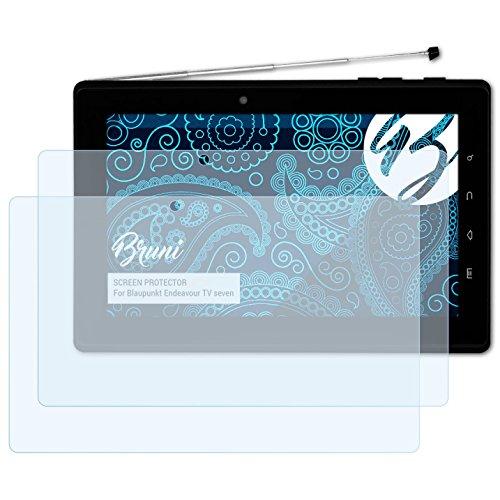 Bruni Schutzfolie für Blaupunkt Endeavour TV Seven Folie, glasklare Displayschutzfolie (2X)