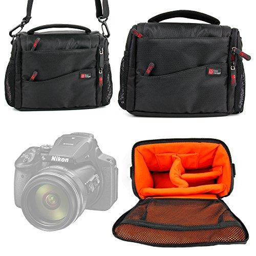 DURAGADGET Custodia Imbottita per Nikon Coolpix L340, A10, AW130, P900, S7000 | Sony DSC-H300, H400, DSC-W810 | Panasonic Lumix DMC-FZ72EF-K - con Maniglia E Tracolla Regolabile