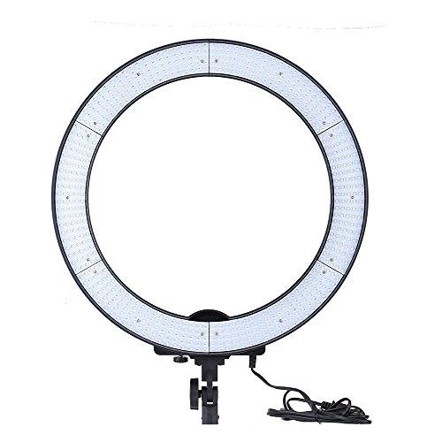 Andoer-LA--Flash-anulare-650D-5500-K-40-W-per-studio-fotografico-digitale-con-600-LED-regolazione-continua-panno-morbido-e-custodia