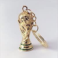 Ndier Coupe du Monde Porte-clés Trophy or Coupe du Monde de Football Porte-clés Pendentif Cadeaux de Football
