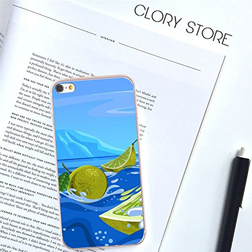 Coque iPhone 6 6s,MingKun Coque iPhone 6 6S Ultra Mince et Souple Premium Souple TPU Silicone Clair Transparente Coque pour iPhone 6 6S TPU Silicone Gel Coque pour iPhone 6 6S Transparent Coque + 1x P Summer Design 4