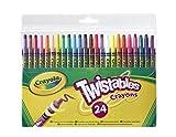 Crayola 24 Twistable Crayons - ceras (Multi, Multicolor, Alrededor, Cera, Niño/niña, Caja)