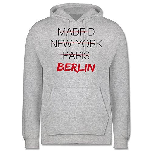 Städte - Weltstadt Berlin - Männer Premium Kapuzenpullover / Hoodie Grau Meliert