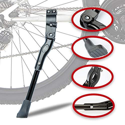 LYCAON Fahrradständer Fahrrad Seitenständer Aluminiumlegierung Einstellbarer Fahrradständer mit Rutschfestem Gummifuß, Fahrradständer Hinterbauständer für 22-28 Zoll Mountainbike/Rennrad/BMX/MTB -