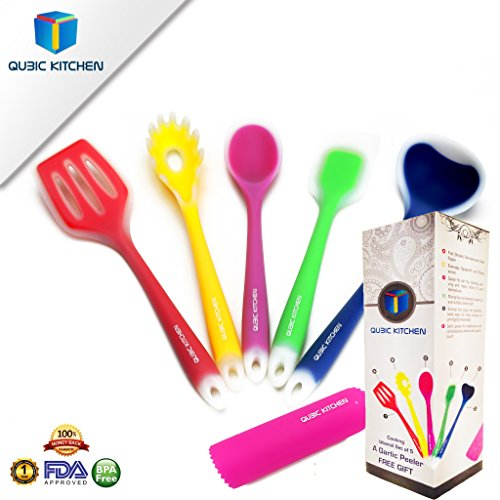 kitchen-gift-set-range-cooking-utensils-includes-5-pieces-premium-silicone-coated-non-stick-turner-s
