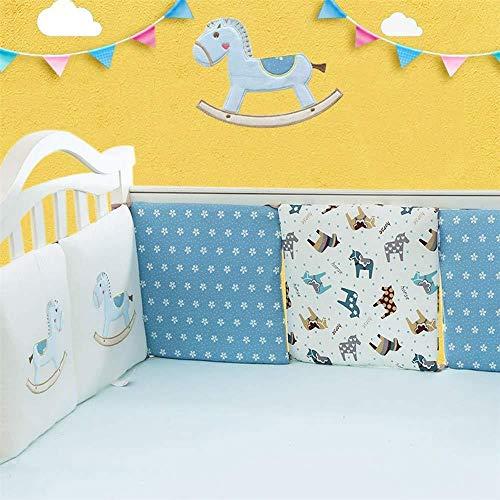 Babybett Kinderbett Bumper Pads Bettwäsche Set Kissen Kissen Safety Collision Barrier Cotton Pillow | Unisex | Jungen | Mädchen,Type4-OneSlice