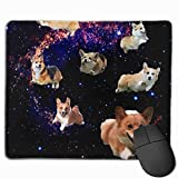Cute Corgi Running Personalized Design Mauspad Gaming Mauspad with Stitched Edges Mousepads, Non-Slip Rubber Base, 300 x