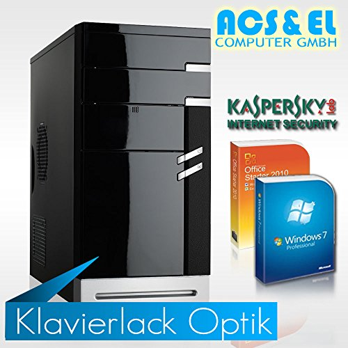 Office Komplet PC System Xercon AMD A8-9600 4x3.4GHz Quad Core | 16GB | 120GB SSD | 500W Netzteil | Kaspersky - 30 Tage Test | Office 2010 Starter | Windows 7 Professional (OEM) 64Bit [98542_W7]