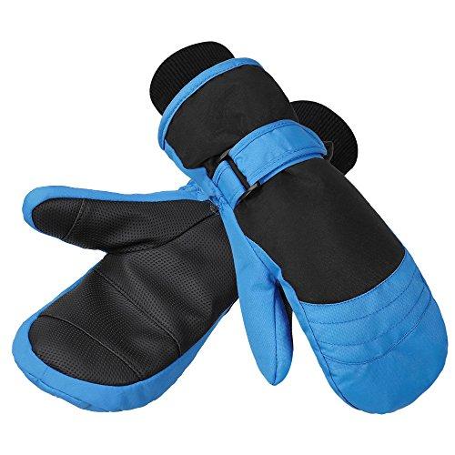 Terra Hiker Kinder Handschuhe, Wasserfest Ski Fäustlinge, Winddicht Skihandschuhe, Thermo Winterhandschuhe, Snowboardhandschuhe (Blau-M, 5-9 Jahren)