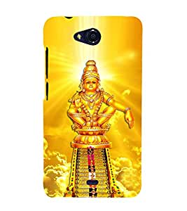 Lord Ayyappa 3D Hard Polycarbonate Designer Back Case Cover for Micromax Bolt Q335