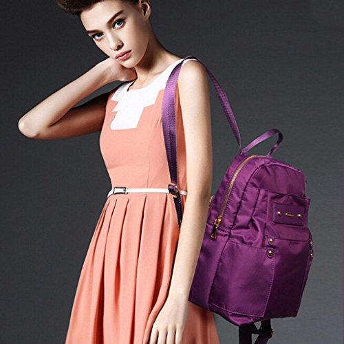 ZY&F nylon Borsa delle signore Borsa a tracolla multifunzionale zaino Borse a tracolla borsetta Signorina Zaino studente Borsa da viaggio , blue Purple