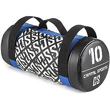 CAPITAL SPORTS Toughbag • Power Bag • Core Bag • Fitness Bag • Gewicht: 5 kg, 10 kg, 15 kg, 20 kg oder 25 kg • Koordinations-, Kraft- und Ausdauertraining • Functional-Training • 3 Nylon-Griffe • Kunstleder • reißfest • Sand-Florettseide-Mischung