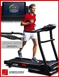 Sportstech F26 & F31 tapis de course professionnel tapis roulant avec contrôle Smartphone App - ceinture d'impulsion de valeur de 39,90 € inclue - MP3 Bluetooth AUX 4 HP 16 kmh - pliable